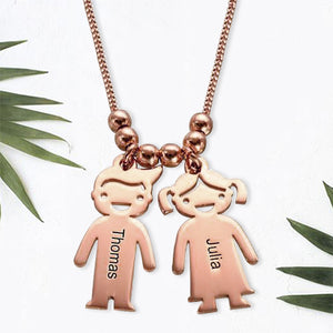 Necklace with Children 2 Charms