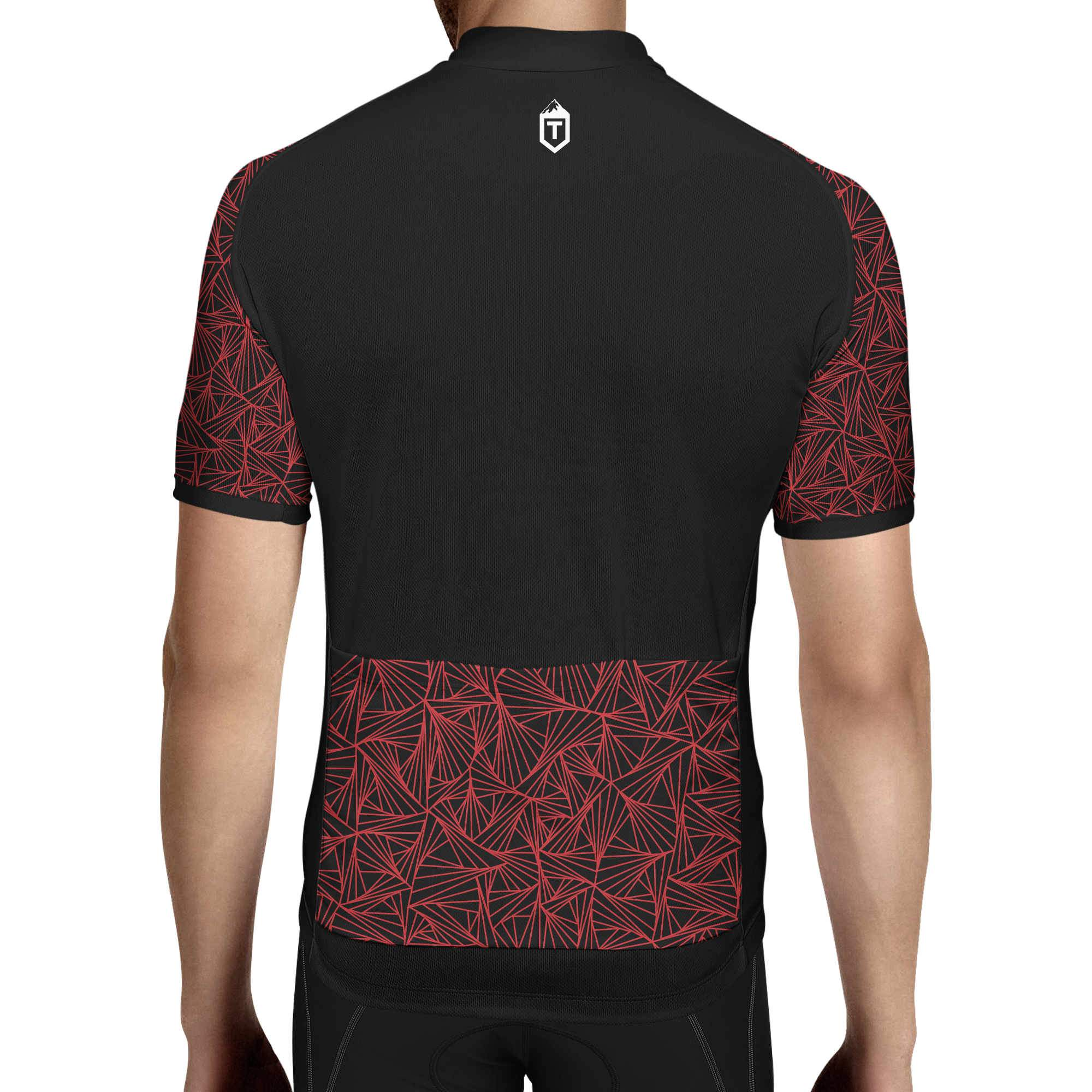 Triangles Jersey - Black / Red - The Tempests Store