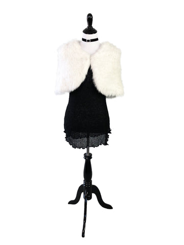 Rex Rabbit Fur Shawl - paulamarie