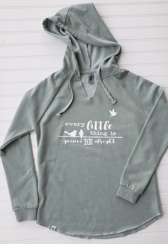 Every Little Thing Light Green Women's Hooded Sweatshirt