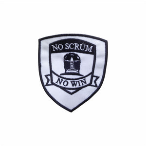 No Scrum No Win rugby patch