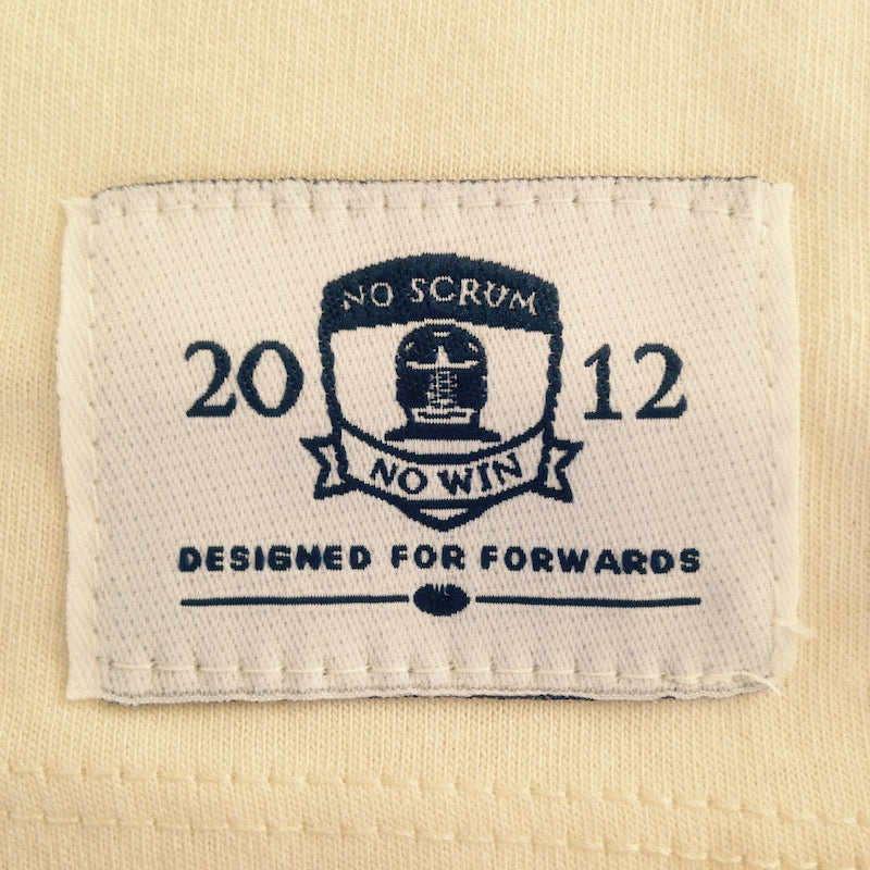 NSNW patch on natural white tee shirt
