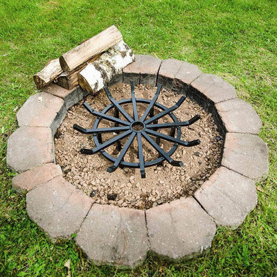 round steel spoke-style fire pit grate outdoor fire pit