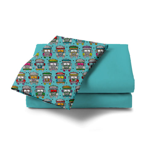 Trucks Design Bed Sheet - Haus and Sie