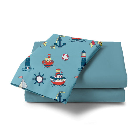 Nautical Design Bed Sheet - Haus and Sie