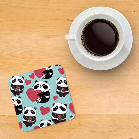 Panda Printed wooden coasters - Haus and Sie
