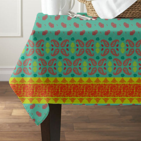 Coral Paisley Waterproof Table Cover - Haus and Sie