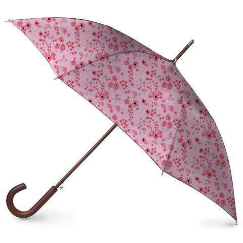 Peachy floral print umbrella - Haus and Sie