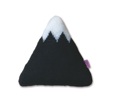Homely Creatures - Knitted Mountain Cushion - Black - Sml
