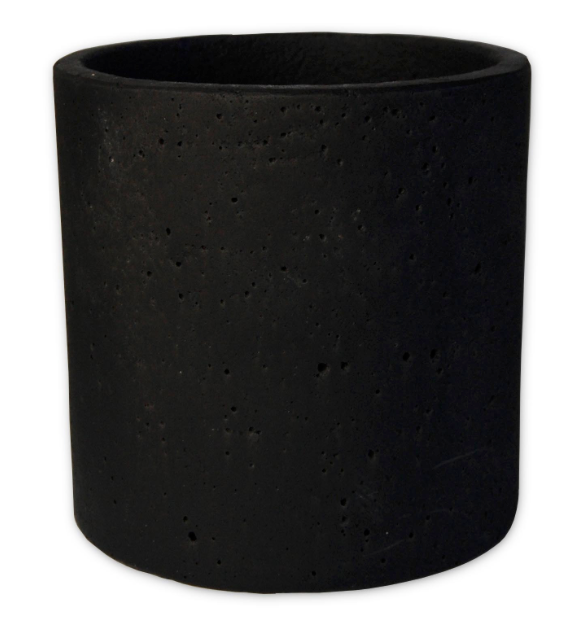 Zakkia Concrete Pot Black - Large