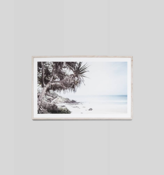 Middle of Nowhere - Along the Coast Framed Print