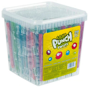 Sour Punch Twists Assorted - Wrapped 210ct Tub