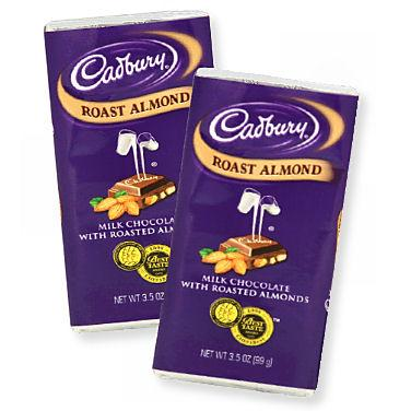 Cadbury Almond Bars - 14ct