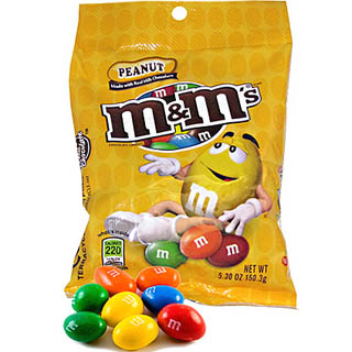 Peanut M&M's - 12ct Peg Bags