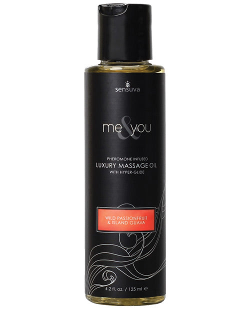 Sensuva Me & You Massage Oil - 4.2 Oz Passion Fruit Guava