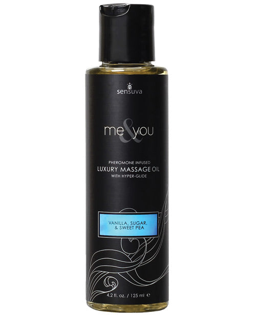 Sensuva Me & You Massage Oil - 4.2 Oz Vanilla Sugar Sweet Pea