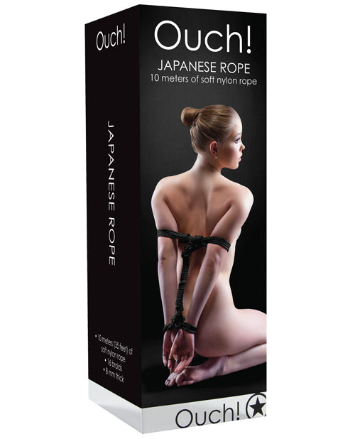 Shots Ouch Japanese Rope - Black