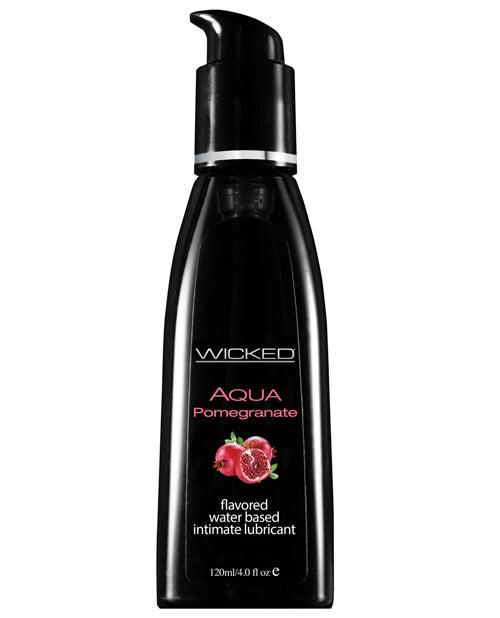 Wicked Sensual Care Aqua Waterbased Lubricant - 4 Oz Pomegranate
