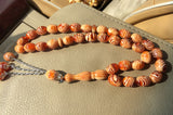 1pc/lot  imitation amber color 33 Islamic Tasbih Allah Muslim prayer beads ROSARY misbaha tespeeh masbaha tesbih subha tesbih
