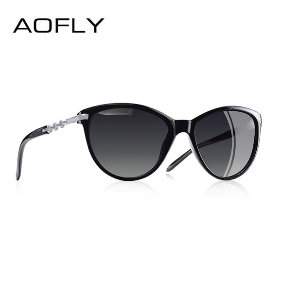 AOFLY BRAND DESIGN Cat Eye Polarized Sunglasses Women Polarized Sun Glasses Female Gradient Shades Oculos Feminino UV400