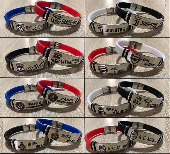 Football Star Bracelets Famous Soccer Player Beckham Messi Stainless Steel Adjustable ID Bracelets Man Boy Bracelet