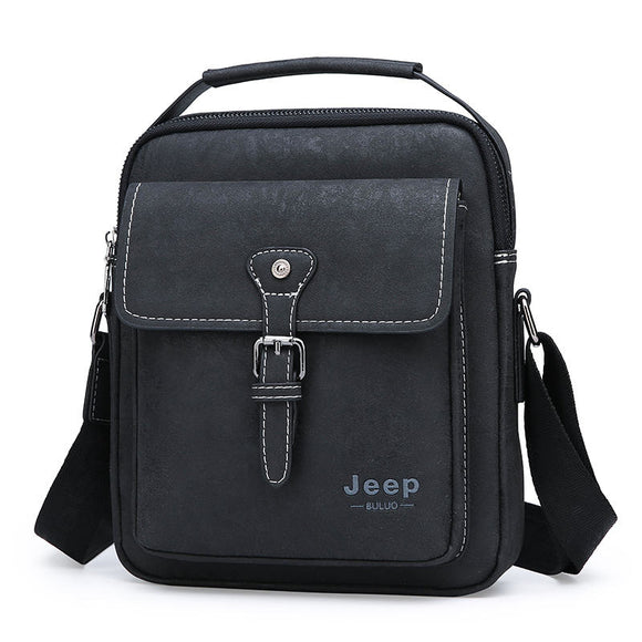 JEEP BULUO Brand New Man Handbag Hot Sale Men Messenger Shoulder Bags Frosted Leather Large Capacity Tote Casual Business Bag