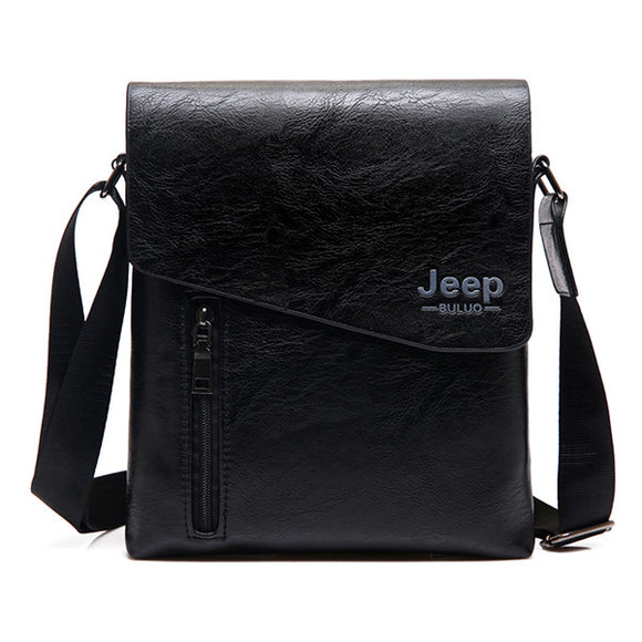 JEEP BULUO New Style Man's Tote Bag High Quality Leather Messenger Bags For Men Fashion Crossbody Shoulder Bags Hobos 1502
