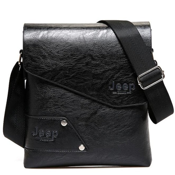 JEEP Leather Bag Men Messenger Bags Men's Crossbody Business Tote Man Classic Hot Sale Men's Shoulder Bags Brown Famous Brand