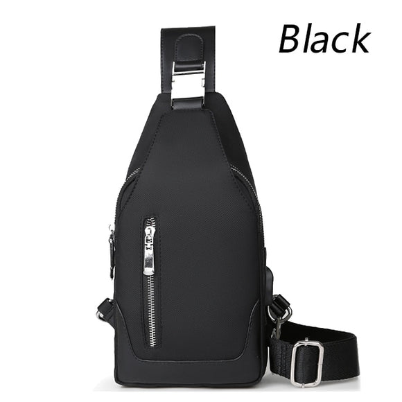 Men's Messenger bag shoulder Oxford cloth Chest Bags Crossbody Casual messenger bags Man USB charging Multifunction Handbag