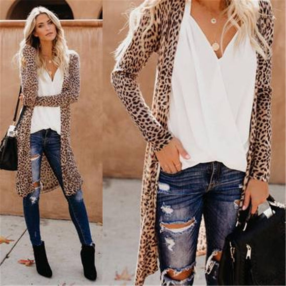 Spring and Autumn New Casual Loose Women's Cardigan Thin Jacket Camouflage Print Long Sleeve Slim Joker Women's Long Jacket