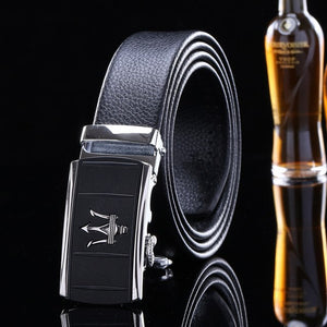 2017 men belts genuine leather and pu high quality fashion designer luxury black brand strap metallica automatic buckle/mlb083