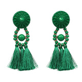 2018 Brincos Women Brand Boho Drop Dangle Fringe Earring Vintage ethnic Statement