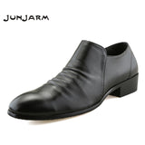 2018 Breathable Men Formal Shoes Pointed Toe Oxford Shoes For Men Dress Shoes Black