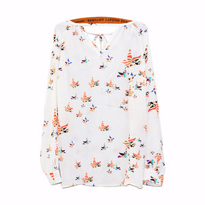 NEW Women Summer Chiffon Shirts Autumn Boho Floral Printed Long Sleeve Blouses Ladies Loose Casual Tops Cropped Feminino #YL - The Perfect Match