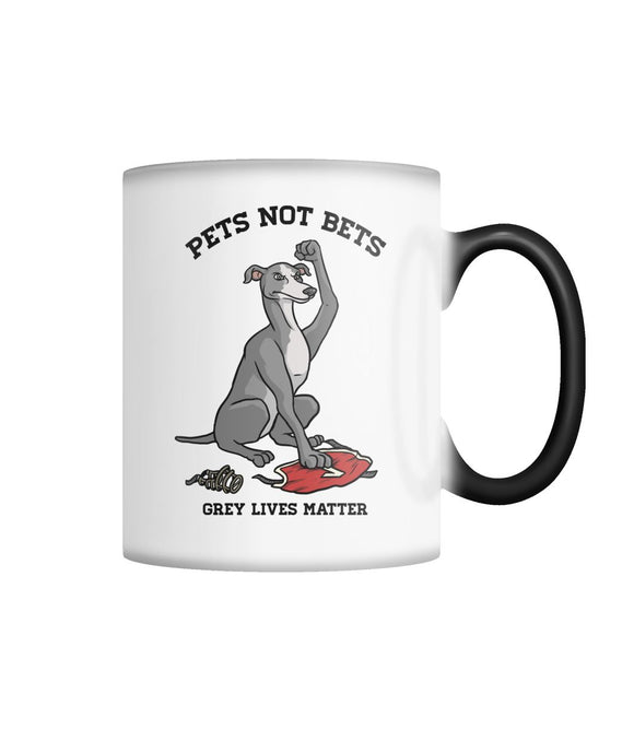 Pets Not Bets Ex-Racer Color Changing Mug - Grey Lives Matter Shop