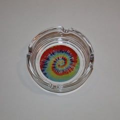 Tye Dye Glass Ashtray