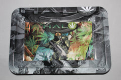 Medium Metal Rolling Tray- Halo