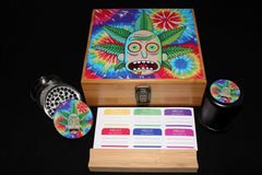 "Large Rick and Morty ""Rick Bud"" Bamboo Stash Box Set"