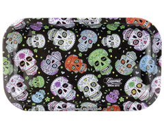 Medium Metal Rolling Tray- Sugar Skulls