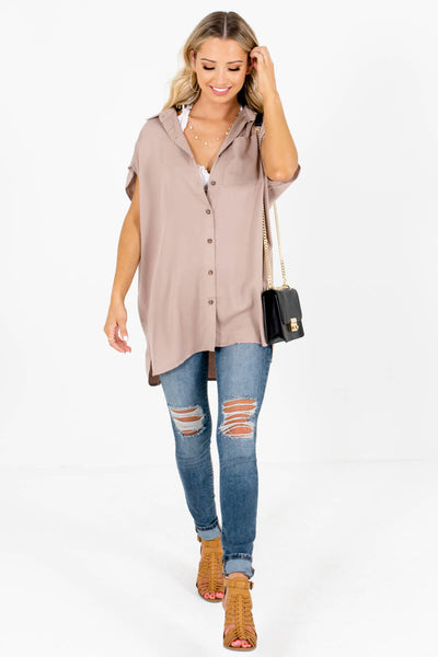 Women's Taupe Brown Spring and Summertime Boutique Clothing