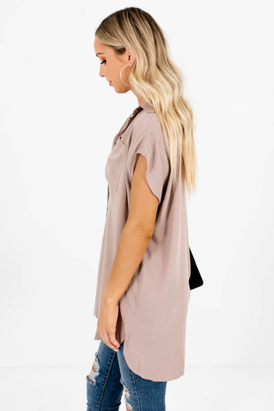 Taupe Brown Business Causal Boutique Clothing for Women