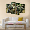 Soldiers Busy In Operation In A Jungle Multi Panel Canvas Wall Art Print