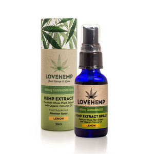 CBD Oil UK Spray 30ml 400mg Lemon - Love Hemp