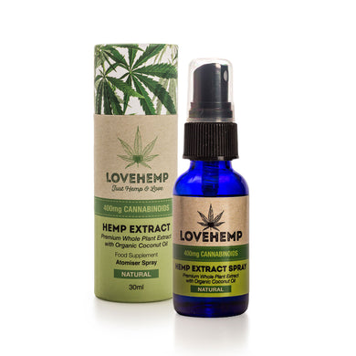 CBD Oil UK Spray 30ml 400mg - Love Hemp