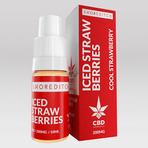 CBD Vape Oil UK 10ml 200mg Iced Strawberries - Shoreditch CBD