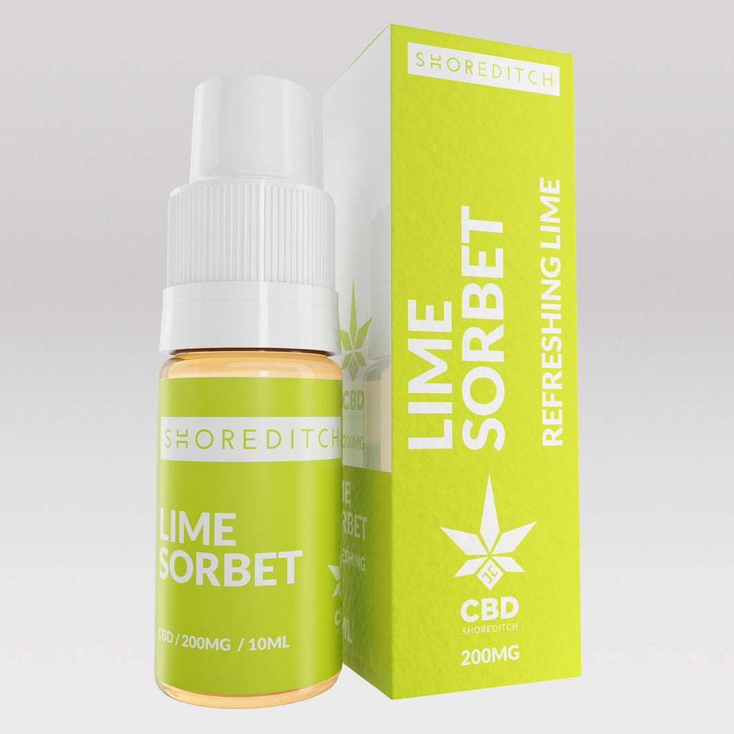 CBD Vape Oil UK 10ml 200mg Lime Sorbet - Shoreditch CBD