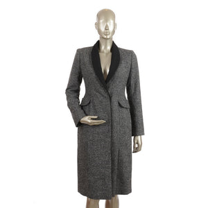 Grey & Black Wool Coat