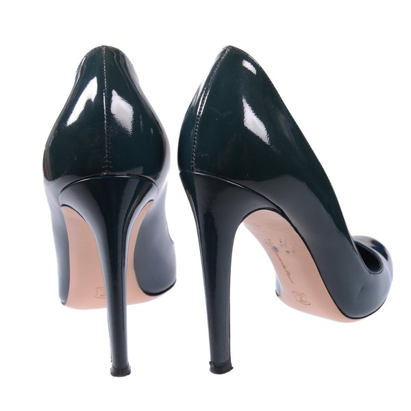 Petrol Blue Round-Toe Pumps