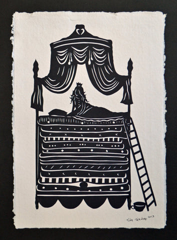 The PRINCESS and the PEA Papercut - Hand-Cut Silhouette