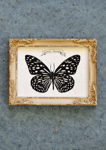 TIGER BUTTERFLY Papercut - Hand-Cut Silhouette, Framed